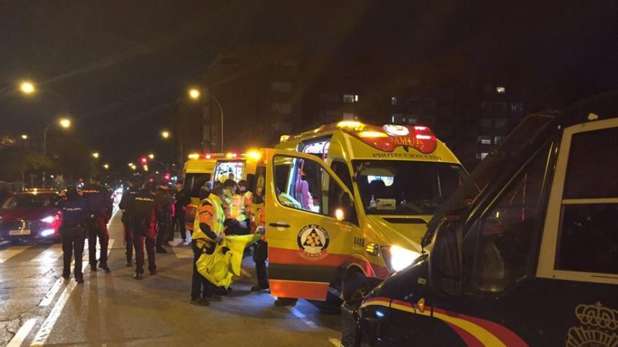 El Samur atiende al joven de 22 años herido en las inmediaciones del Wanda Metropolitano