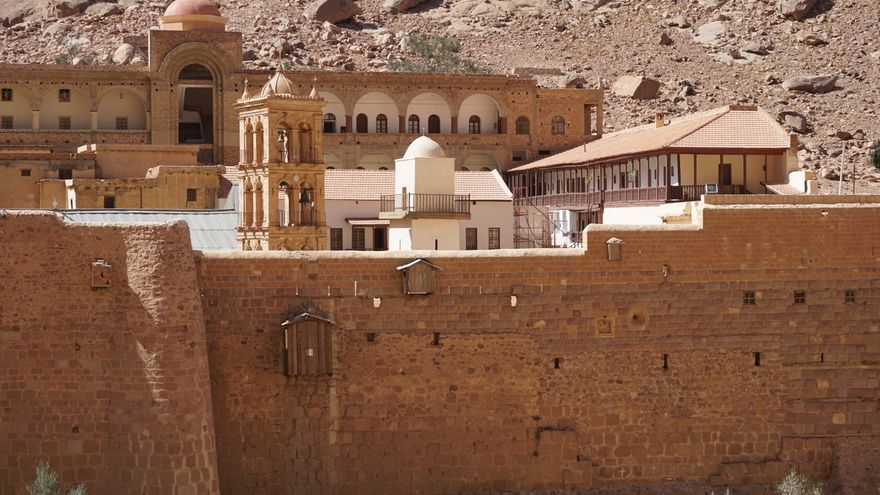 El monasterio de Santa Catalina en el Sinaí.