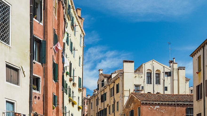 Uno de los canales que atraviesa el Ghetto de Venecia. George Dement
