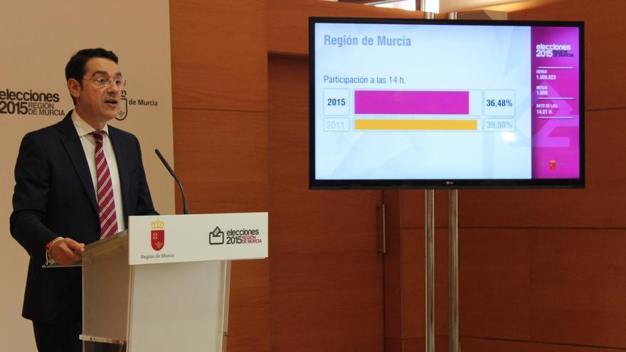 José Gabriel Ruiz en la segunda comparecencia de la jornada electoral del 24M / MJA
