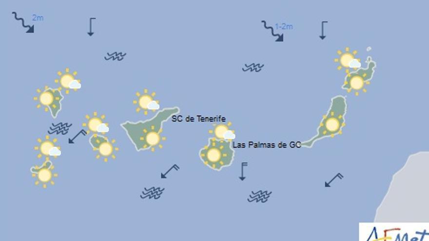 Mapa de previsión para el domingo 4 de septiembre