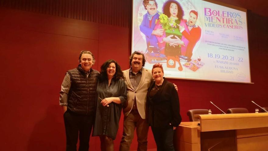 """El Palacio Euskalduna acogerá en marzo el estreno de la comedia teatral """"Boleros, mentiras y vídeos caseros"""""""