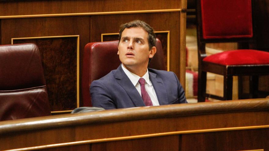 Albert Rivera, durante la segunda jornada del debate de investidura. Foto: Juan Barandica