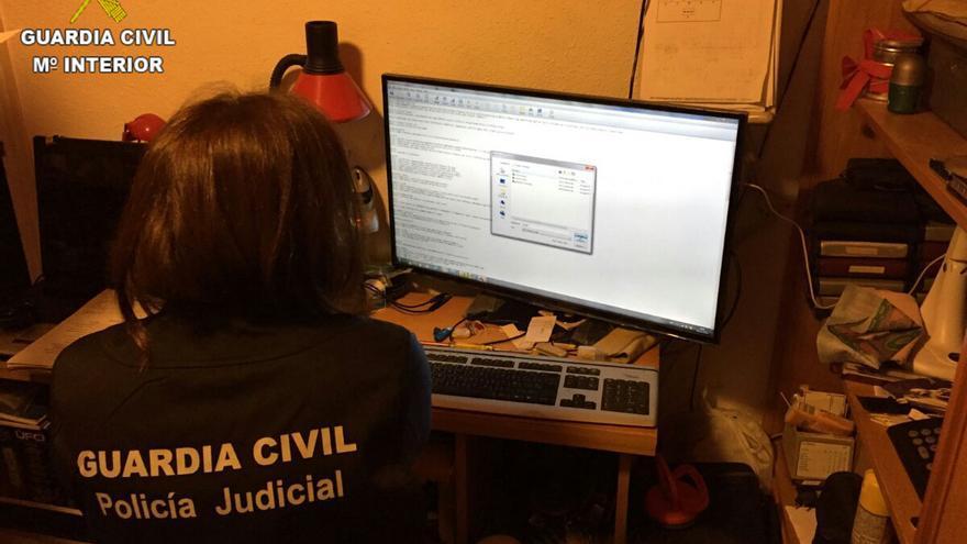 Operación Madejas contra la tenencia y distribución de pornografía infantil a través de Internet