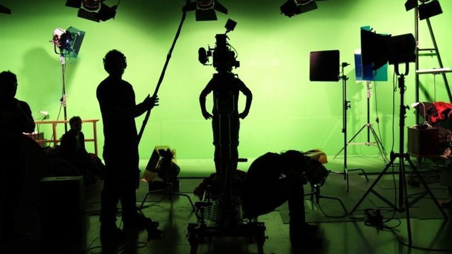 Imagen de archivo de un plató de cine.