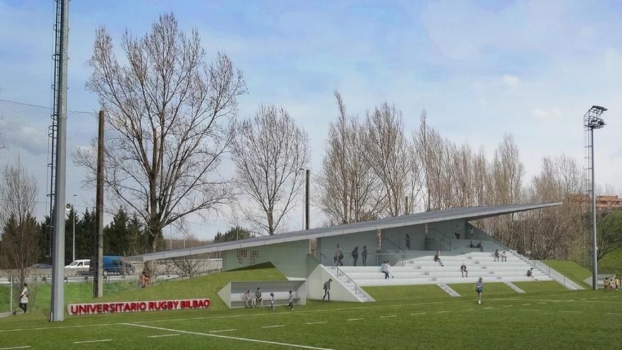 Bilbao inicia las obras de construcción de una tribuna cubierta para rugby en el polideportivo de El Fango, en Rekalde