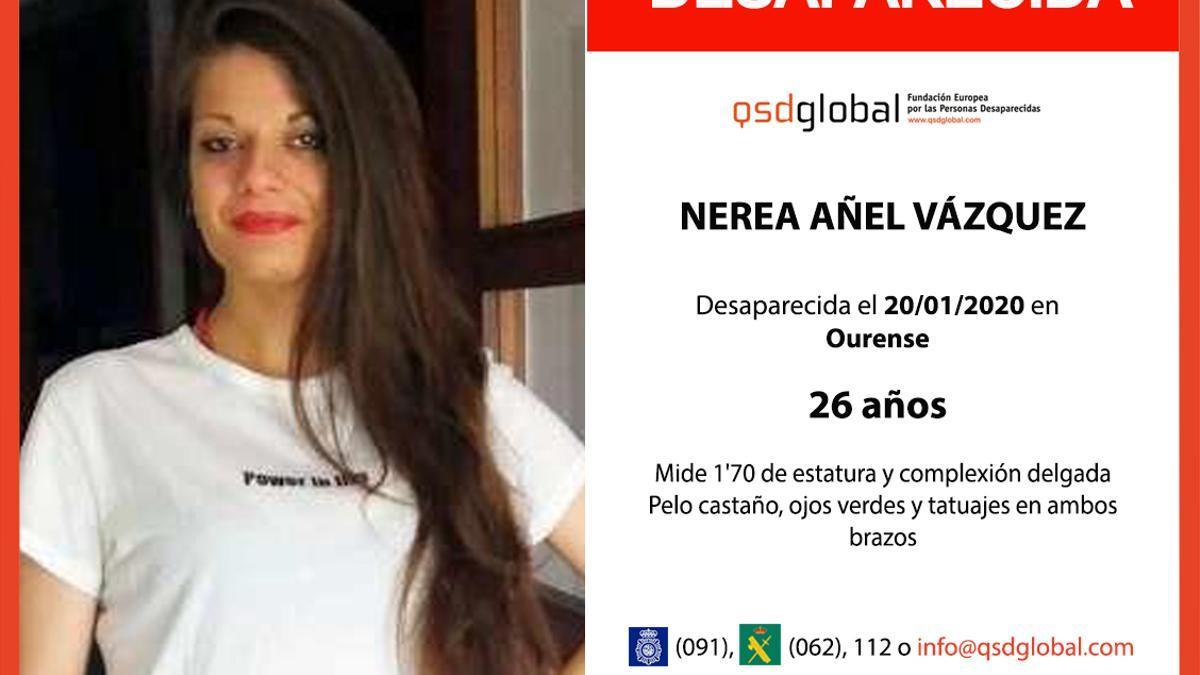Cartel de la desaparición de Nerea Añel