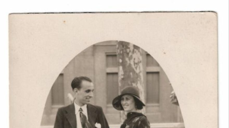 Carlos Campello y su mujer Asuncion Miralles antes de la guerra.