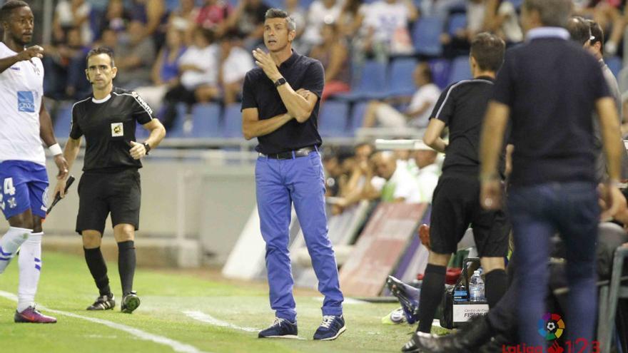 El entrenador del CD Tenerife, José Luis Martí.
