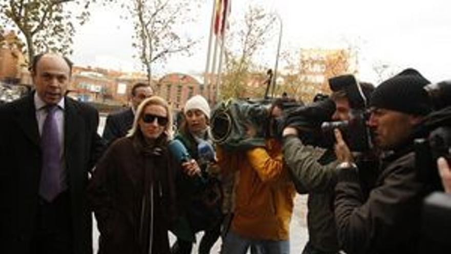Marta Domínguez, a su salida de los juzgados. (EUROPA PRESS)