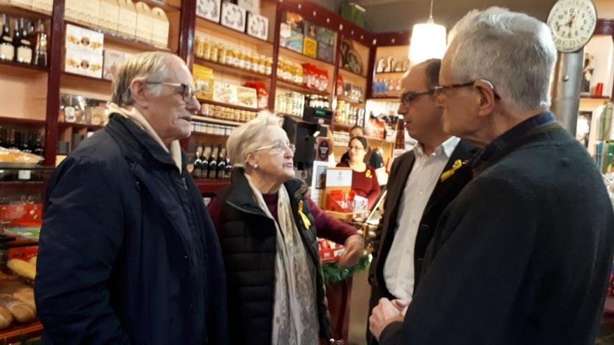 Turull visita a la familia de Puigdemont para trasladarle su apoyo