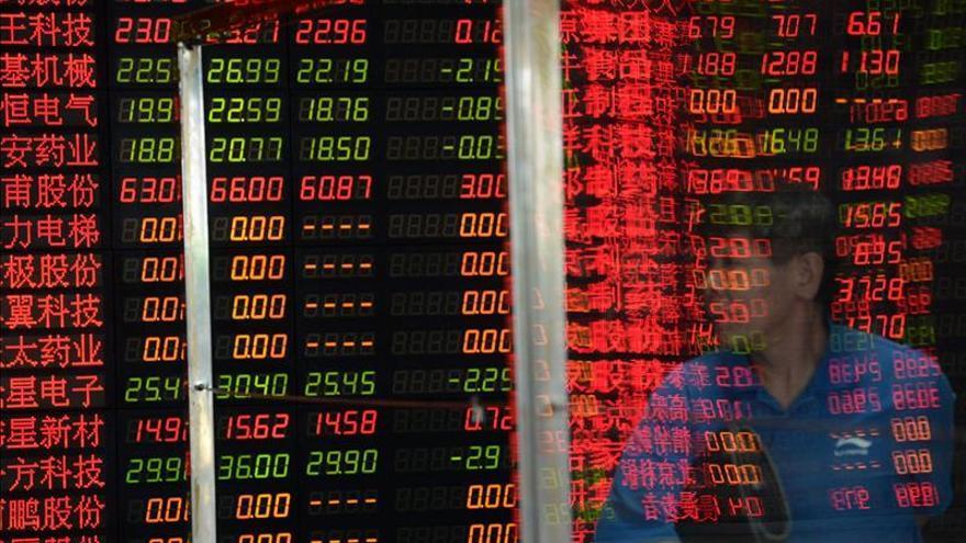 La Bolsa de Shanghái abre con pérdidas de un 0,88 %