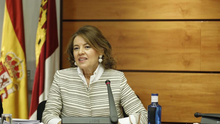 La consejera Aurelia Sánchez en la Comisión de Presupuestos