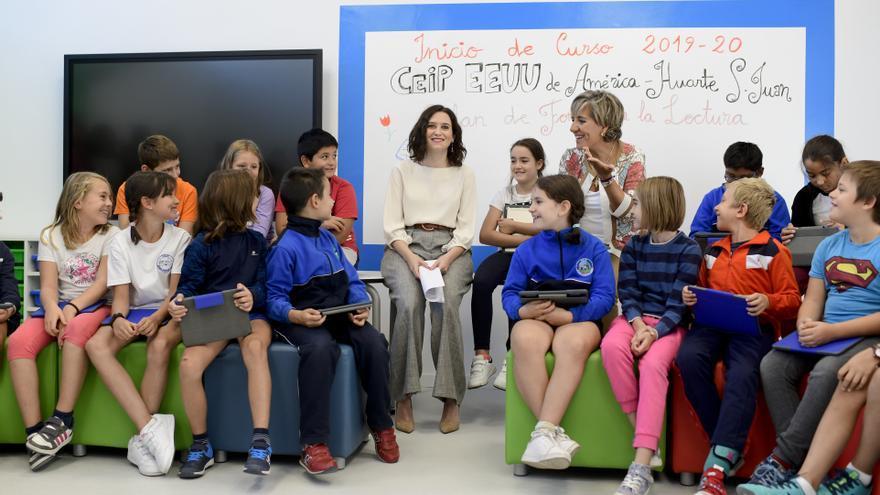 Isabel Díaz Ayuso, en la inauguración del curso escolar. / Comunidad de Madrid