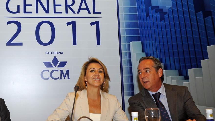 Ángel Nicolás y María Dolores de Cospedal en una foto de archivo. / castillalamancha.es