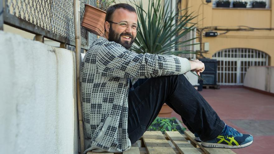 Carlos Macías portaveu de PAH Barcelona / ENRIC CATALÀ