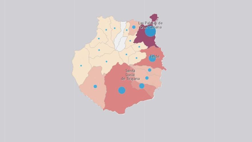 Gran Canaria estabiliza sus indicadores epidemiológicos pero sigue encabezando los contagios diarios en las Islas