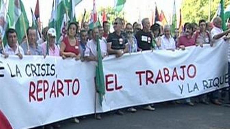 Manifestación contra el paro, Sevilla