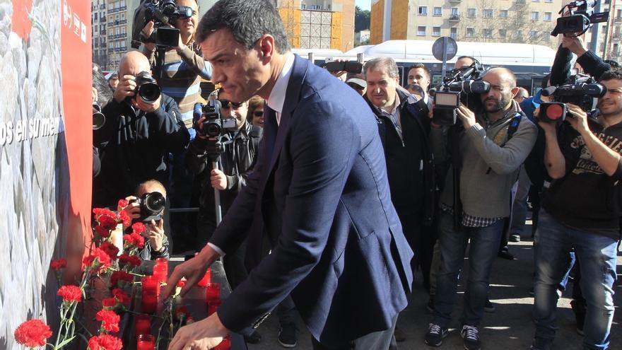 """Pedro Sánchez destaca en el aniversario del 11M """"el valor de la unidad de todos los demócratas frente a la barbarie"""""""
