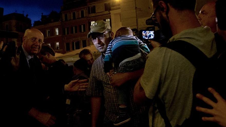 Hasan, uno de los refugiados que ya está en Roma