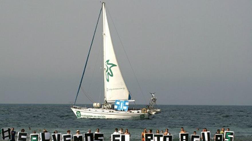 Protesta ecologista en Almería