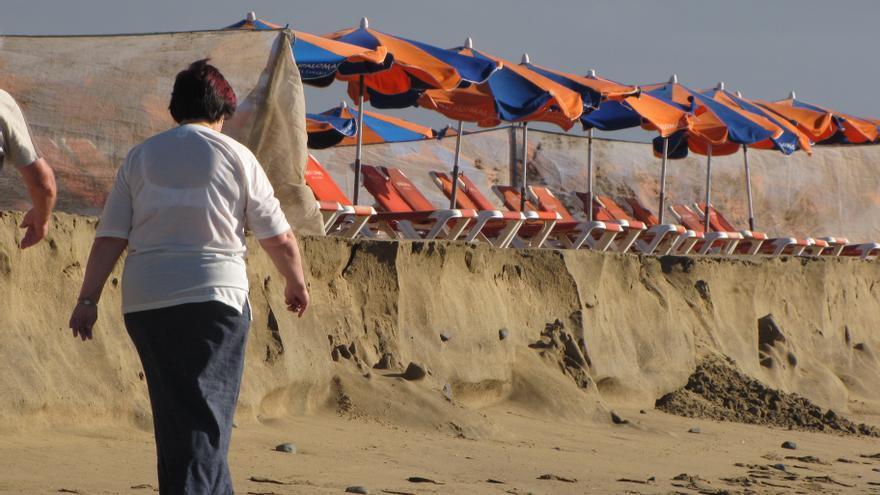Deterioro de la Playa de Maspalomas
