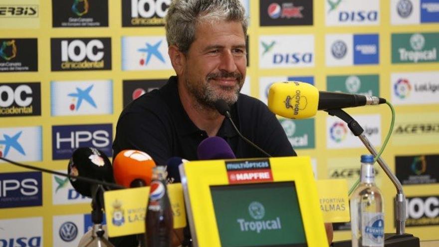 En el entrenador de la UD Las Palmas Manolo Márquez.