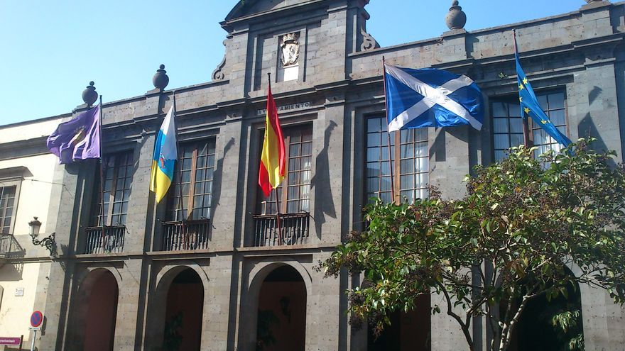 Fachada del Ayuntamiento de La Laguna.