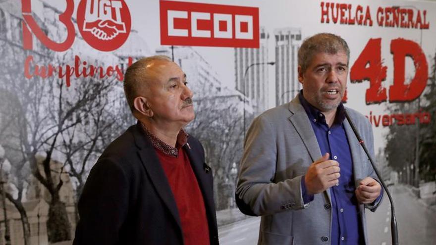 UGT y CCOO se movilizarán el 8 de febrero para forzar cambios laborales