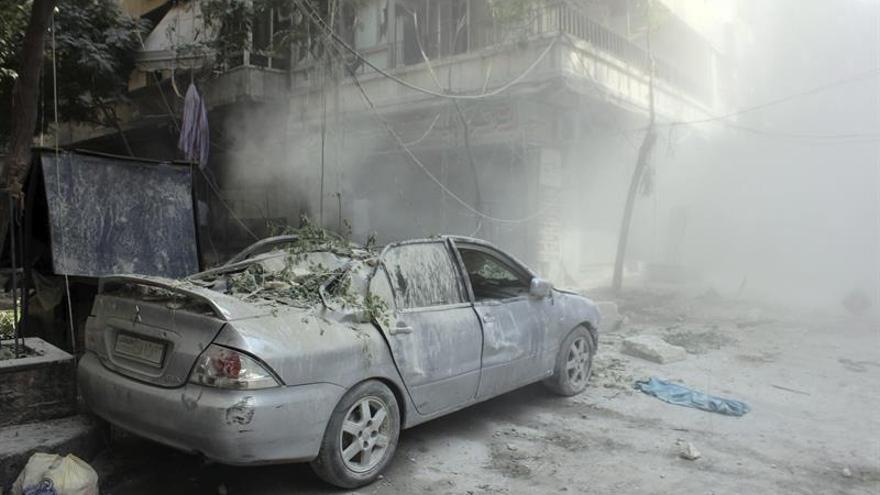 Al menos 12 muertos y 64 heridos por la caída de cohetes en el oeste de Alepo