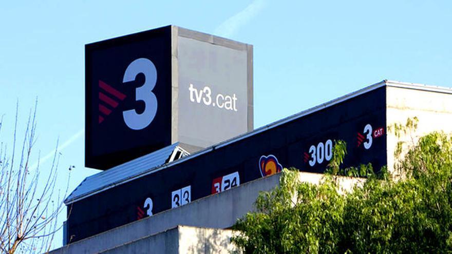 Logo de la televisión pública catalana en sus instalaciones de Sant Joan Despí