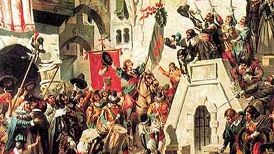 Representación de la independencia de Portugal en 1668. (DP).