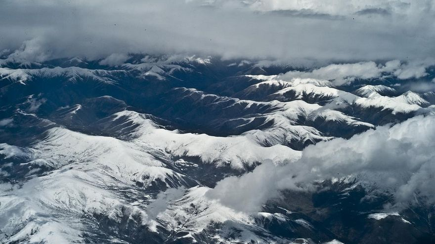 Vista aérea en la ciudad tibetana de Lhasa.