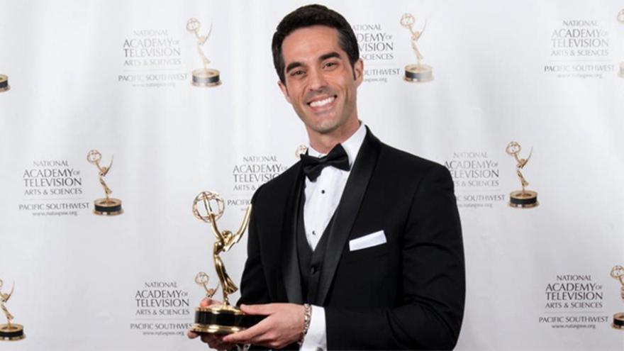 Antonio Texeira, al recoger su primer Emmy