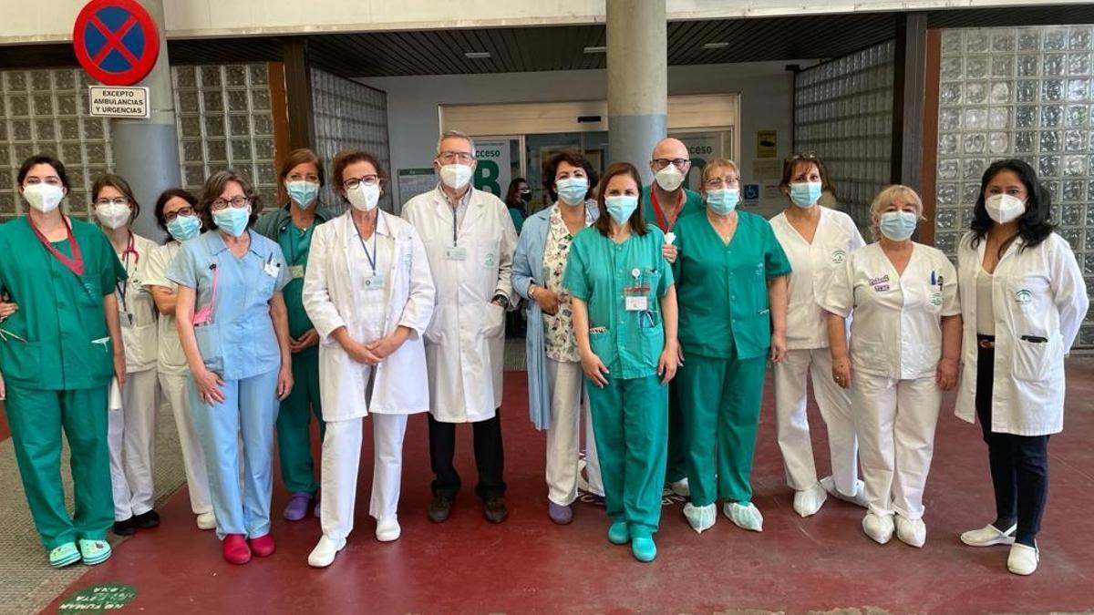 El equipo del banco de leche del hospital Reina Sofía