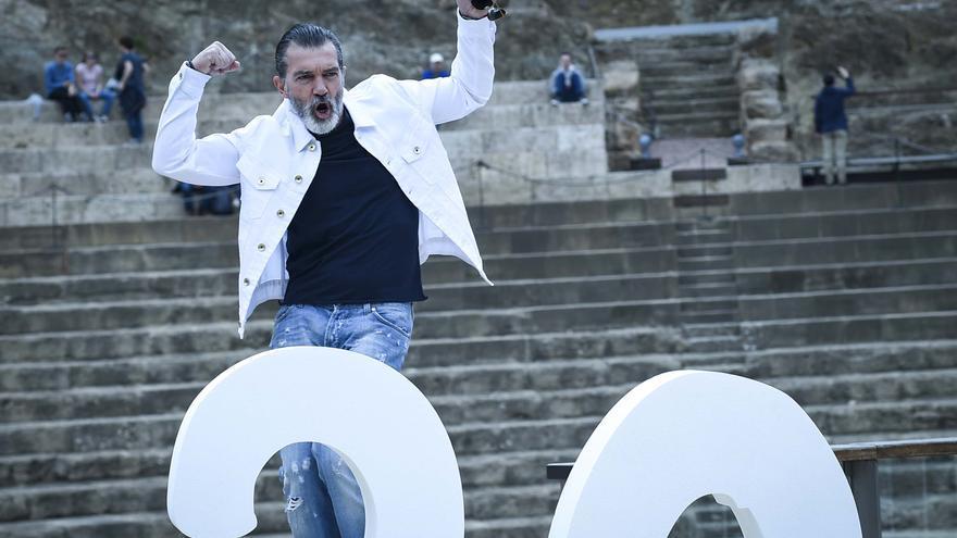 Antonio Banderas, durante el photocall de la edición 20 del Festival de Málaga