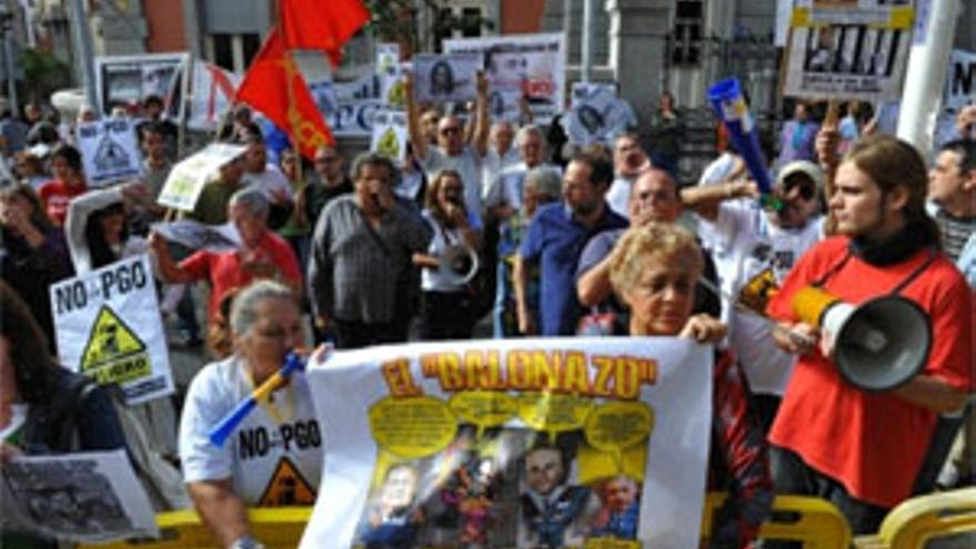 Protesta contra el PGO de Santa Cruz. (ACFI PRESS)