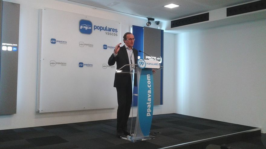 """Alonso dice que si las """"prioridades"""" de PNV y PP coinciden """"pueden colaborar"""" ya que nueve parlamentarios dan """"juego"""""""