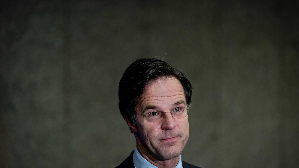 El primer ministro neerlandés, de Mark Rutte.