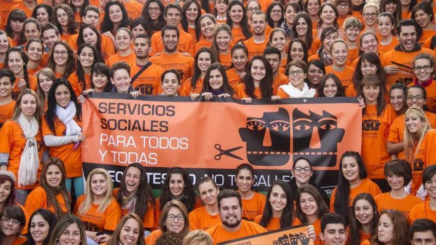 Marea Naranja / Foto: Consejo General del Trabajo Social