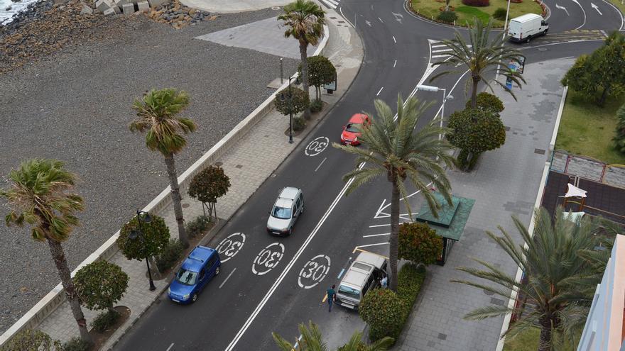 Imagen del tramo de la Avenida Marítima en el que se ejecutarán las obras.