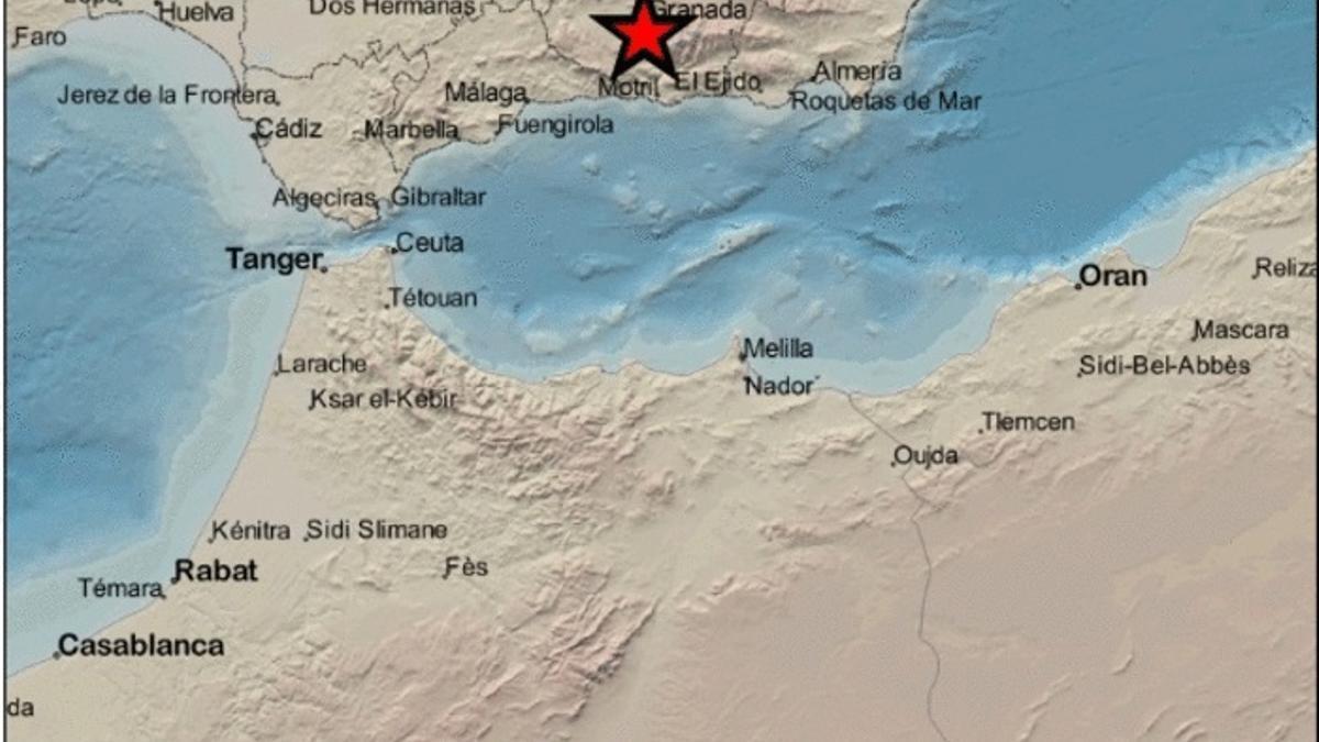El epicentro ha sido en Gójar (Granada)