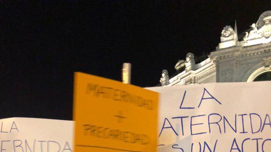 Pancarta en la manifestación del 8M en Madrid.
