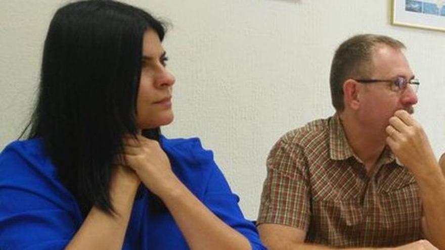 Mila Hormiga y Fernando Sabaté, ambos de Podemos en el Cabildo de Tenerife