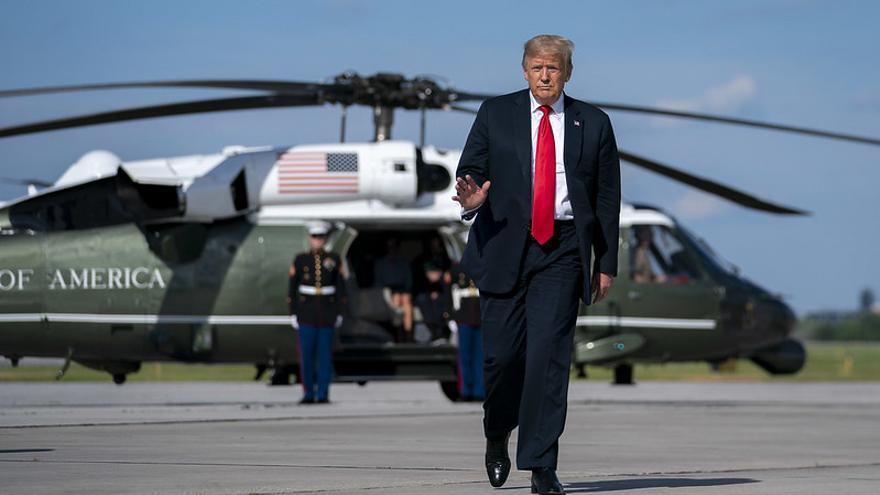 Donald Trump durante una visita a Wisconsin el pasado 25 de junio.