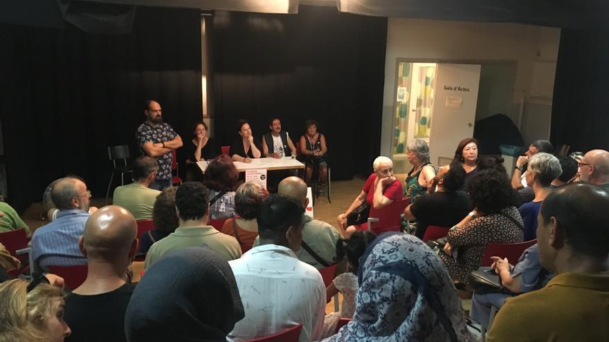 Imagen de la reunión del pasado miércoles en el Centre Cívic Drassanes.