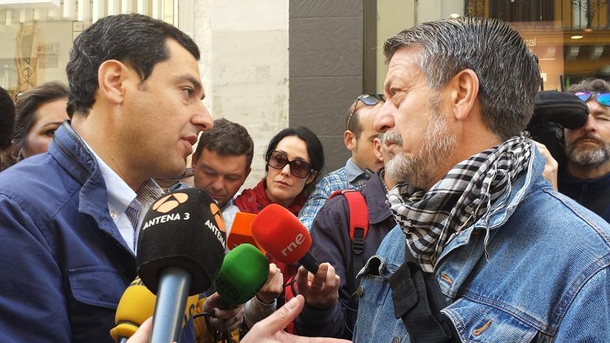 Juanma Moreno, en Sevilla.