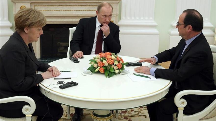 Putin y los líderes europeos marcan la hoja de ruta para la paz en Ucrania
