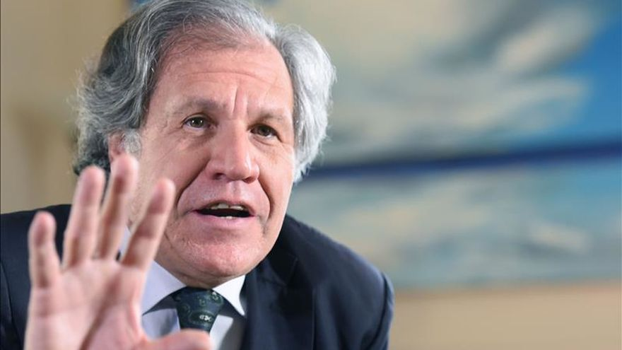 """Almagro cierra 2015 """"tranquilo"""" por haber defendido los principios de la OEA"""