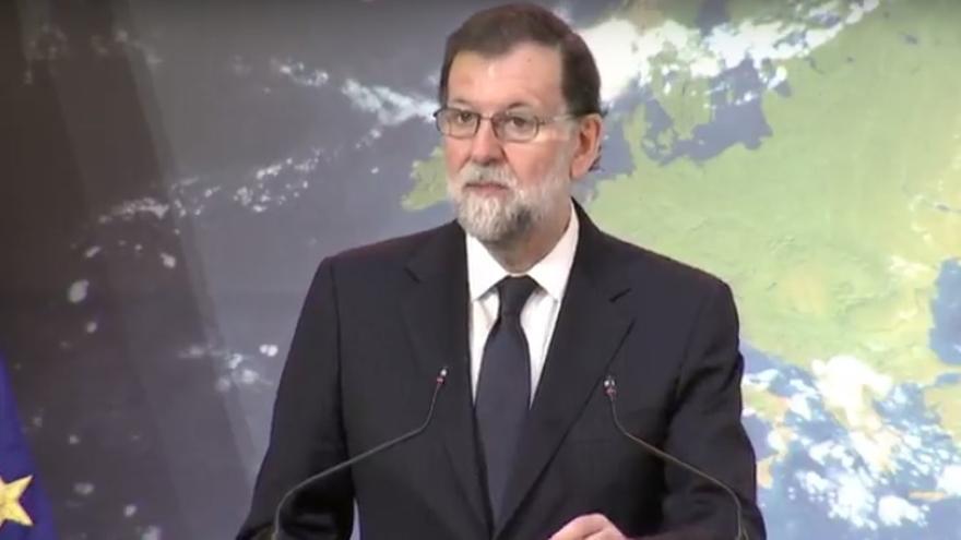 El presidente Mariano Rajoy en las jornadas sobre la ley de cambio climático.